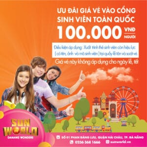 JUST VND100,000/TICKET: FOR STUDENTS NATIONWIDE