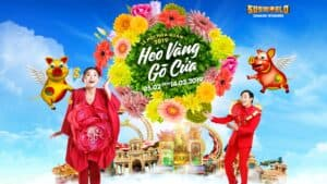 """Golden Pig is coming to town"" Flower Festival in celebration of the Lunar New Year at Sun World Danang Wonders"