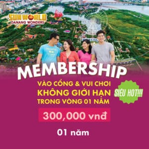 MEMBERSHIP CARD: 300, 000 VND/ 1 YEAR _ UNPRECEDENTED SHOCK OFFERS AT SUN WORLD DANANG WONDERS.