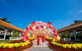 "THIS LUNAR NEW YEAR, COMING TO SUN WORLD DANANG WONDERS, YOU WILL BE EXTREMELY HAPPY WITH THE SPRING FLOWER FESTIVAL ""XUAN PHAT TAI"" (FORTUNE SPRING)"